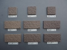乾式施釉石面45二丁タイル95×45 北海道地区某現場